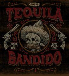 TEQUILA BANDIDO - LA MARCA DEL DIABLO by Maleficio Rodriguez, via Behance