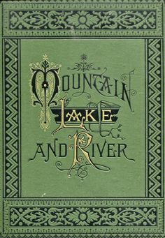 Mountain Lake And River,  book-cover