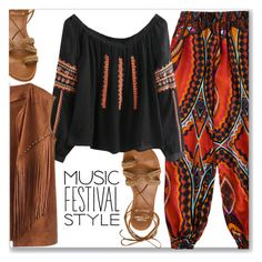 """""""Best Festival Trend :: Boho"""" by jecakns ❤ liked on Polyvore featuring Stuart Weitzman"""