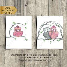 Owl Nursery Decor, Nursery Wall Art, Girl Nursery, Owl Baby Rooms, Baby Owls, Baby Wall Art, Room Art, Wall Art Prints, Shops