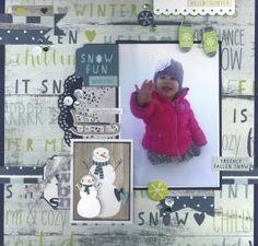 Layout: Snow Fun by Sacagawea