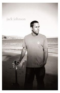 Jack Johnson Guitar On the Beach Music Poster 11x17