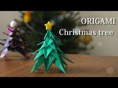 折り紙でクリスマスツリーの作り方。星も一緒に作ろう♪【Origami Tutorial】How to make A PAPER CHRISTMAS TREE!! - YouTube Origami Bow, Origami Wedding, Origami Dragon, Origami Bookmark, Origami Flowers, Origami Instructions, Origami Tutorial, Origami Christmas Tree, Christmas Crafts