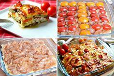 Запеченные баклажаны с куриным мясом - Кулинария
