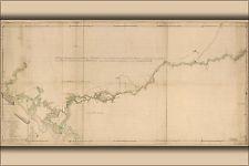 16x24 Poster; Map Of Savannah River Georgia 1752