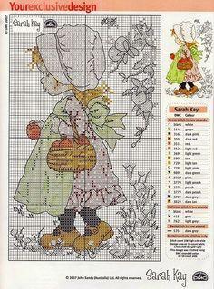 Schema punto croce Sarah Kay nel bosco | Hobby lavori femminili - ricamo - uncinetto - maglia