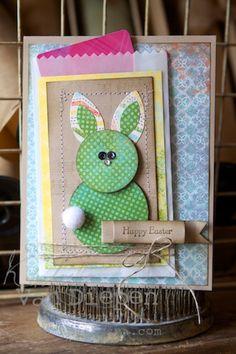 Kimberly Van Diepen, Stampin Up! Easter Bunny Punch Art