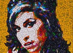 Pill portrait Amy Winehouse by Jason Mecier