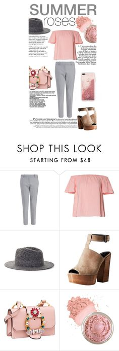 """""""Summer roses"""" by javorkozima ❤ liked on Polyvore featuring Tiffany & Co., BCBGMAXAZRIA, Rebecca Minkoff, Miu Miu, Summer, outfit, Pink and polyvoreeditorial"""