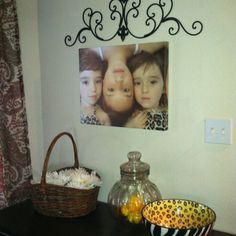 Photo canvas of the girls. So sweet!!