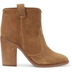 Laurence Dacade Nico suede ankle boots found on Polyvore featuring shoes, boots, ankle booties, ankle boots, shoes - boots, suede high heel boots, slip on ankle boots, short suede boots and high heel ankle boots