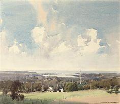Harold Brocklebank Herbert (Australian, 1892-1945) Coastal Landscape, Australia