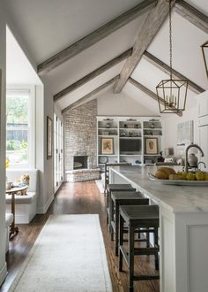 Majestic 24 White Wood Beams Ceiling https://ideacoration.co/2018/01/30/24-white-wood-beams-ceiling/ Reapply the bleach every couple of minutes or as vital to be sure the wood stays damp