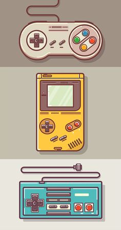 Game Boy and Nintendo Art - drawing - Game Art Game Boy, Graphic Design Trends, Retro Design, Web Design, Flat Design, Japan Design, Game Theory, Gaming Wallpapers, Video Game Art