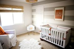 yellow grey white walls | White furniture & gray walls. Throw some yellow in & ... | Future Nur ...