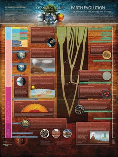 Earth Evolution: The intersection of geology and biology. (Honorable Mention: Posters & Graphics - 2012 International Science & Engineering Visualization Challenge) - via http://www.sciencemag.org/
