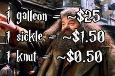"Using this, aubieismyhomie estimated how much wizard money would be compared to Muggle money. | Someone Calculated How Much Wizard Money Is Worth In ""Harry Potter"""