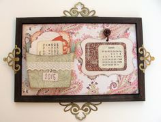 Taller scarpbooking: calendario