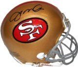 Signed Joe Montana 49ers Gold Helmet - The Real Deal Autographed by the Greatest QB in NFL and Forty Niner history.