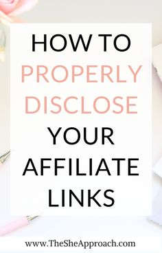 If you are a blogger you probably know what affiliate marketing means and you want to disclose your affiliate links in the right way! In this post I will show you exactly how to properly disclose your Affiliate Links & why do you need to disclose your Affiliate Links! #affiliatemarketingtips #affiliatelinkssales #makemoneyfromblogging Affiliate Marketing, Email Marketing, Marketing Products, Content Marketing, Digital Marketing, Make Money Blogging, How To Make Money, Blogging For Beginners, Blog Tips