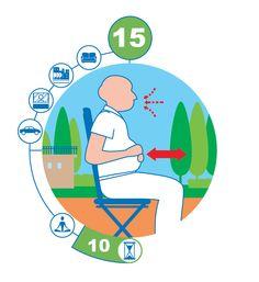 RESPIRATION ABDOMINALE. Mains sur le ventre, inspirez profondément en gonflant le ventre puis soufflez lentement en faisant sortir tout votre air. Attention l'hyperventilation peu vous faire tourner la tête ne vous levez pas tout de suite après l'exercice. Faites 2 séries de 10 mouvements.