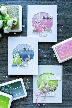 Look at the webpage to learn more on Handmade Christmas Cards Christmas Cards 2017, Xmas Cards, Holiday Cards, Christmas Deer, Handmade Christmas, Card Making Inspiration, Making Ideas, Hero Arts Cards, Winter Karten