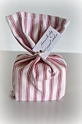 Ruby Ticking Bagged Soap Brisbane Australia, Soy Candles, Shabby Chic, Soap, Gift Wrapping, Place Card Holders, Cards, Gifts, Vintage