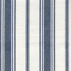A classic, woven stripe fabric in navy blue and cream that has an airy coastal feeling.Suitable for upholstery, drapery, curtains, roman blinds, cushions, pillows and other home decor accessories.