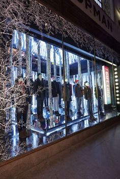The Topman Christmas window display gives a mystical 'Narnia' effect which evokes a modern interpretation of a traditional Christmas theme.