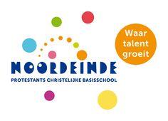 Aanpassing van het logo voor Basisschool Noordeinde uit Zoetermeer. Het logo is mede door de pay-off en het speels toevoegen van de gekleurde stippen meer eigentijds.