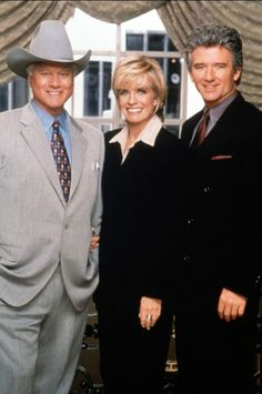 linda gray | Larry Hagman, Linda Gray et Patrick Duffy - Dallas - photo