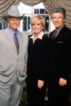 linda gray   Larry Hagman, Linda Gray et Patrick Duffy - Dallas - photo