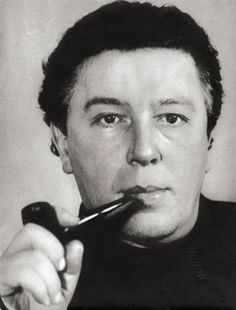 André Breton (1896-1966) - French writer and poet. Photo by Gisèle Freund