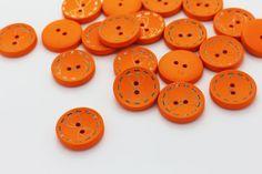8 Orange Butterfly Bow Sew Through Wood by boysenberryaccessory