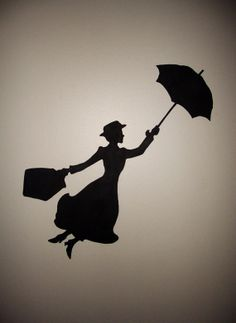 Mary Poppins Silhouette Wall Art by KurlySue on Etsy, $30.00