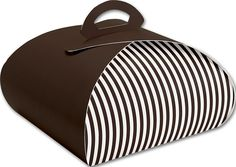 Food and Gourmet Boxes - Brown with White Stripes Bake Away Carriers, 10x10x4 1/2' (50 Carriers) - ** Check out this great product.