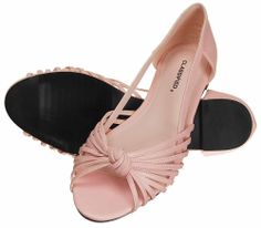 Pink 10,Women's Spring Fashion Strappy Flat Shoes Peep Toe Ballet Flats,CAMN