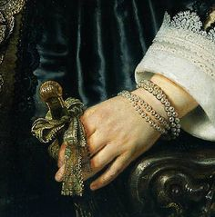 (detail)Rembrandt 'Portrait of Maria Trip' 1639 Oil on panel, via Flickr.