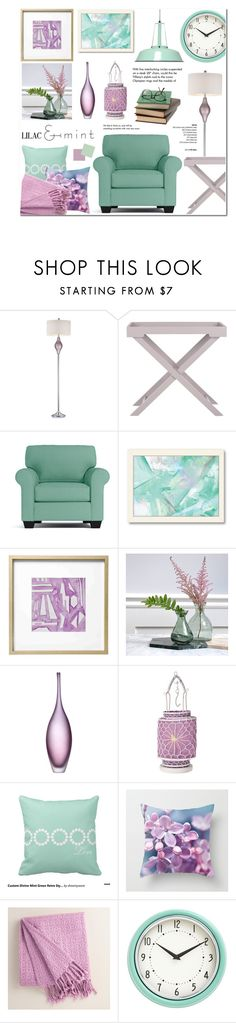 """""""Lilac & Mint - Home Decor"""" by anyasdesigns on Polyvore featuring interior, interiors, interior design, home, home decor, interior decorating, Dimond, Safavieh, Americanflat and Emporium Home"""