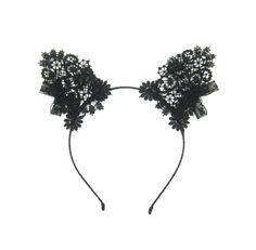 Lace cat ears headband by Talulahblue on Etsy £46.00
