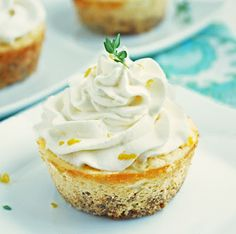 3 g net carbs Lemon, Thyme & Chevre Cheesecakes - I Breathe. Im Hungry. Low Carb Sweets, Low Carb Desserts, Low Carb Recipes, Yummy Treats, Delicious Desserts, Dessert Recipes, Yummy Food, Sweet Treats, Sweet Desserts