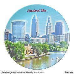 Cleveland, Ohio Porcelain Plate