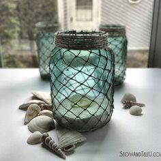 Here's yet another nifty DIY project you can do with mason jars!  So simple.  Via @hometalk from stowandtellu.com