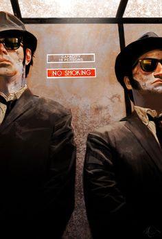 """The Blues Brothers"" - Digital Movie Scene Paintings"