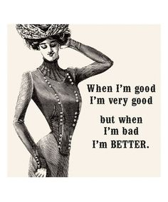 Look at this 'When I'm Bad, I'm Better' Paper Napkin - Set of 20 on #zulily today!