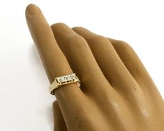 Your place to buy and sell all things handmade Gold Diamond Rings, Gold Bands, Crown Symbol, Gold Crown, Rings Cool, Stackable Rings, Carat Gold, Small Flowers, Vintage Rings