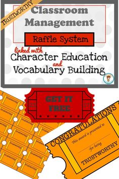Are you looking for a fun and effective way to manage your class? Then this raffle system is for you!
