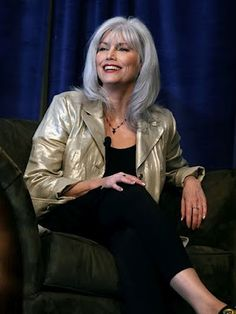 Beautiful Emmylou Harris, with Soul Journey Jewelry Necklace on, given to her by Linda Ronstadt!