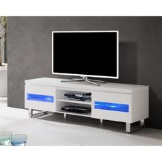 banc tv finition laqu ovio colors blanc laqu conforama conforama pinterest banc tv meuble tv conforama et conforama - Meuble Tv Blanc Laque Led