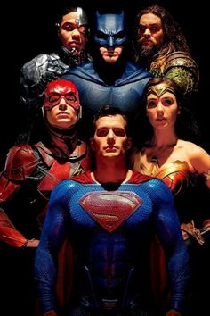 Justice League (Cyborg, Batman, Aquaman, The Flash, Superman and Wonder Woman) Marvel Dc Comics, Dc Comics Superheroes, Dc Comics Characters, Dc Comics Art, Movie Characters, Dc Movies, Comic Movies, Superhero Movies, Justice League 2017